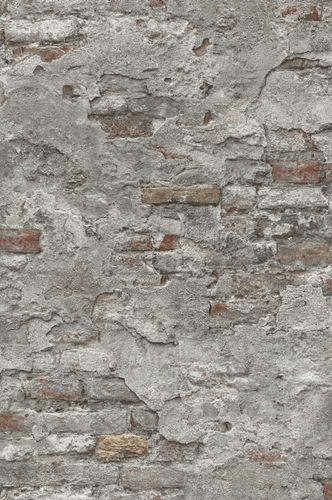 Tapete Vlies Stein-Optik Naturstein grau rotbraun Rasch 939330 online kaufen