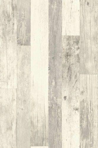 Tapete Vlies Vintage Holz-Optik cremeweiß grau Rasch 941647