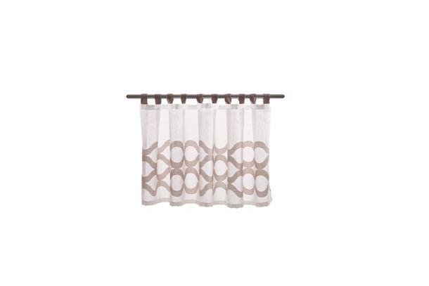 Half Drape graphic semi-transparent white beige 50x140cm 5989-22 online kaufen