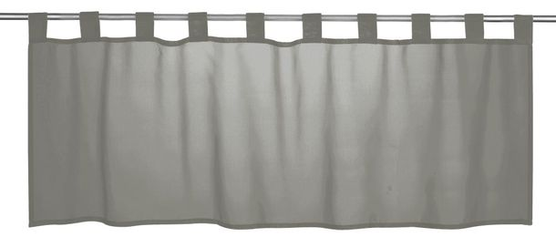 Half Drape transparent Basic plain design grey 198466 online kaufen