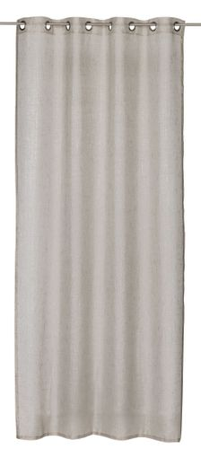 Eyelet Drape semi-transparent Mirage plain brown 198589 online kaufen