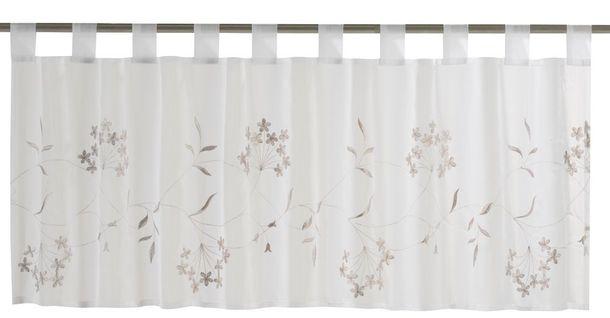Scheibengardine Cappellini transparent Floral weiß braun 198619 online kaufen