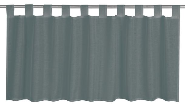Half Drape semi-transparent Effecto plain design grey 198831 online kaufen