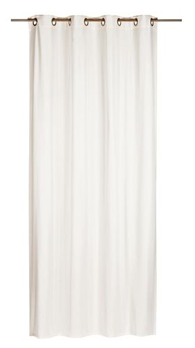 Eyelet Drape non-transparent Miami plain design white 006345 online kaufen