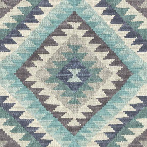 Barbara Schöneberger Tapete Kelim Design hellblau weiß 527452 online kaufen