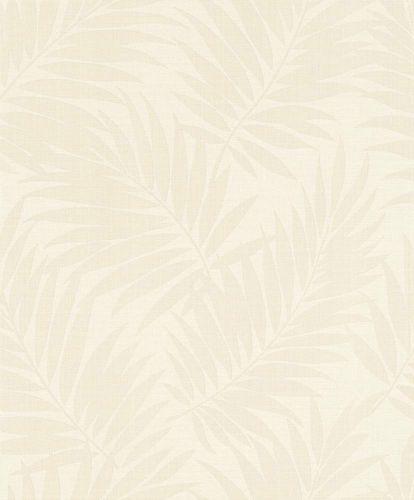 BARBARA Home Collection Tapete Blätter creme weiß Metallic 527537 online kaufen
