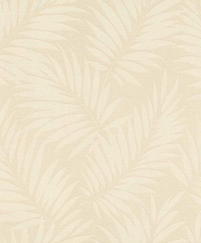 BARBARA Home Wallpaper leaves grey metallic 527544