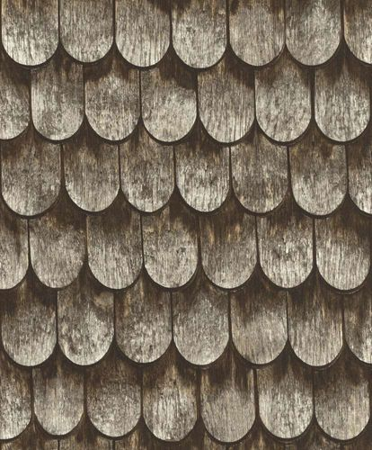 Barbara Becker Wallpaper bb wooden roof brown grey 860702 online kaufen