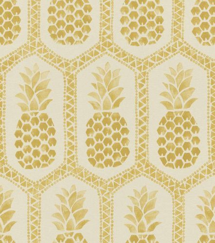 Barbara Becker Wallpaper bb pineapple cream gold 862102 online kaufen