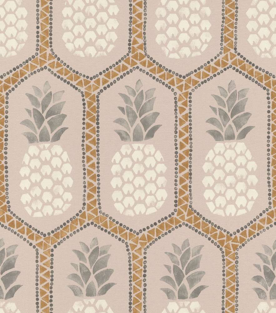 Barbara Becker Wallpaper Bb Pineapple Rose Gold 862119 001