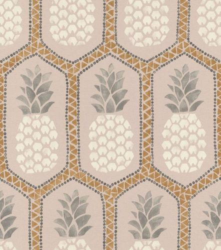 Barbara Becker Wallpaper bb pineapple rose gold 862119 online kaufen