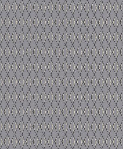 Vlies Tapete Rauten 3D dunkelgrau Metallic Rasch Cato 800777