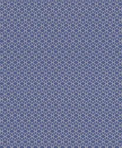 Vlies Tapete Grafisch 3D blau Metallic Rasch Cato 800913