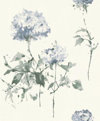 Vlies Tapete Aquarell Floral weiß blau Rasch Cato 801521 online kaufen