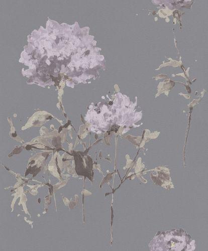 Vlies Tapete Aquarell Floral grau Rasch Cato 801538
