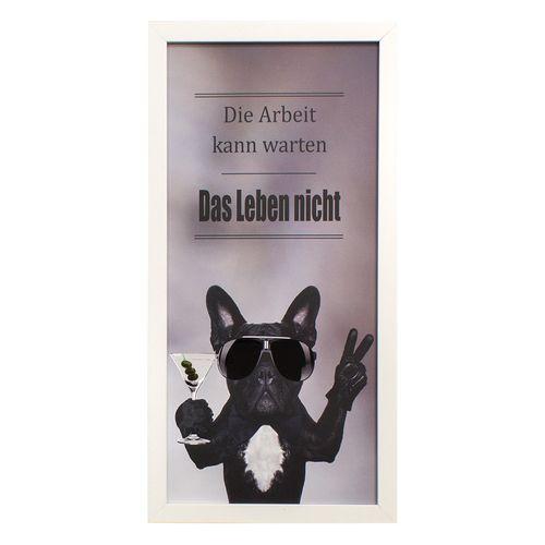 Wandbild Bild Hund französische Bulldogge Glanz 23x49 cm