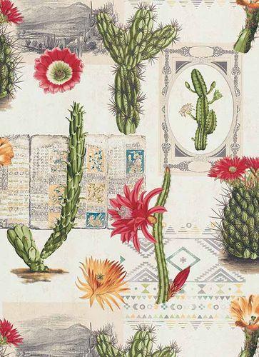 Vlies Tapete Kaktus Floral Ethno Mexico grün rot 6312-06 online kaufen