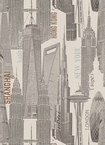 Vlies Tapete Stadt New-York London creme grau 6474-02 online kaufen