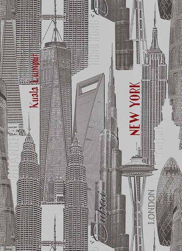 Vlies Tapete Stadt New-York London grau schwarz 6474-06 online kaufen