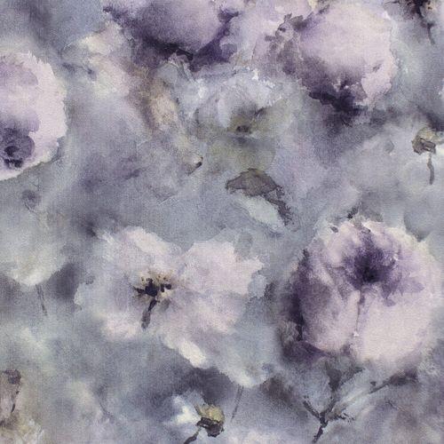 Vlies Tapete Floral Aquarell blaugrau lila Rasch 467307 online kaufen