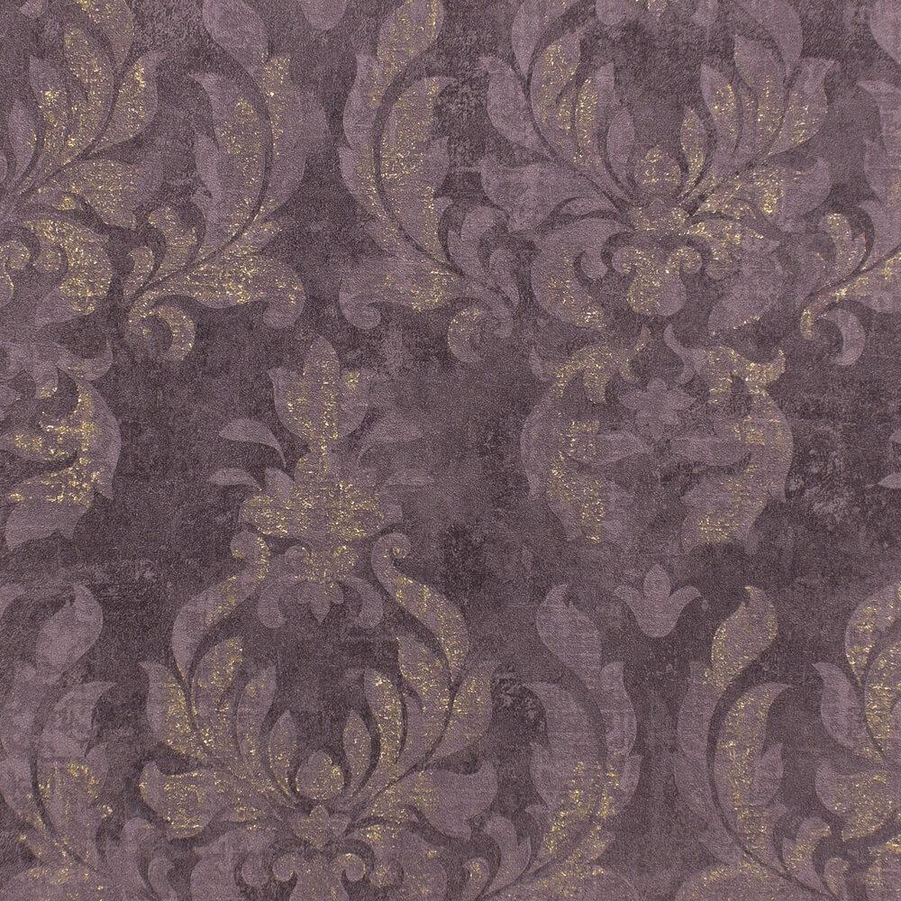 vlies tapete barock dunkellila gold metallic rasch 467451. Black Bedroom Furniture Sets. Home Design Ideas