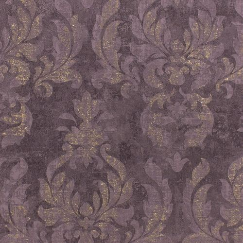 Wallpaper baroque dark purple gold metallic Rasch 467451 online kaufen