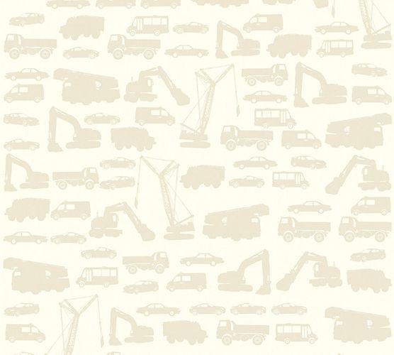 Tapete Kinder Bagger Autos Trucks creme beige 35815-3 online kaufen