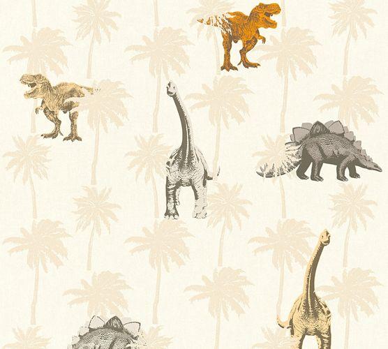 Tapete Kinder Dinosaurier Dinos creme taupe 35835-1 online kaufen