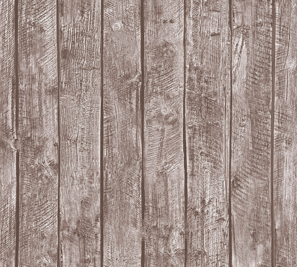 Tapete Kinder Holz-Optik Bretter Braun 35841-1