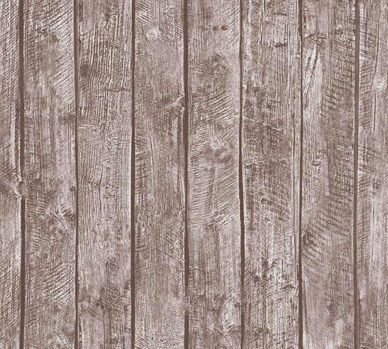 Wallpaper Kids wooden style board brown 35841-1