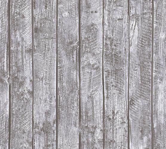 Wallpaper Kids wooden style board grey 35841-2 online kaufen
