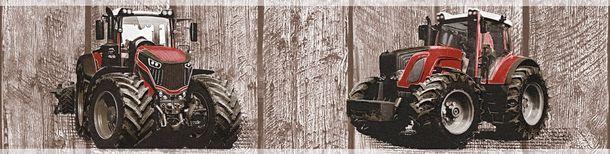 Tapeten Borte Kinder Trecker Holz-Optik braun rot 35843-2 online kaufen