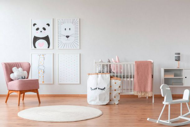 Kids Wallpaper Plain Textile Look white 35566-2 online kaufen