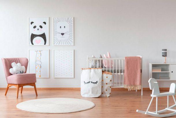 Kindertapete Einfarbig Textil-Optik weiß 35566-2 online kaufen
