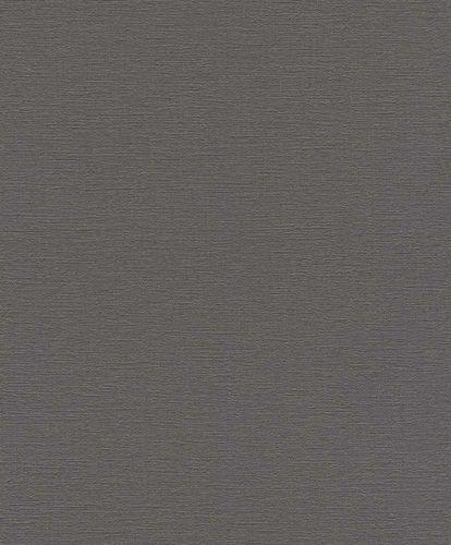 Vlies Tapete Uni Design dunkelgrau Rasch 804355