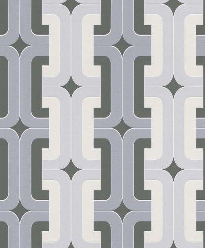 Vlies Tapete Design Retro grau hellgrau Rasch 804805