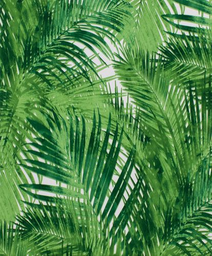 Wallpaper palm leaves green white Rasch Hotspot 805314 online kaufen
