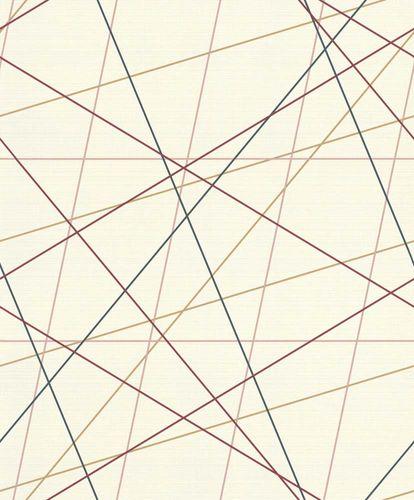 Vlies Tapete Linien Grafisch weiß bunt Rasch 937305