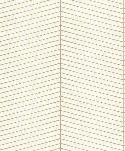 Non-woven Wallpaper graphic white gold gloss Rasch 941401