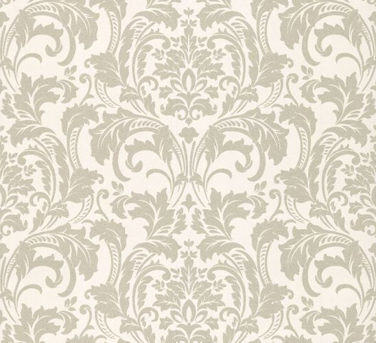 Wallpaper Kretschmer Deluxe baroque glass beads white silver 41005-10 online kaufen