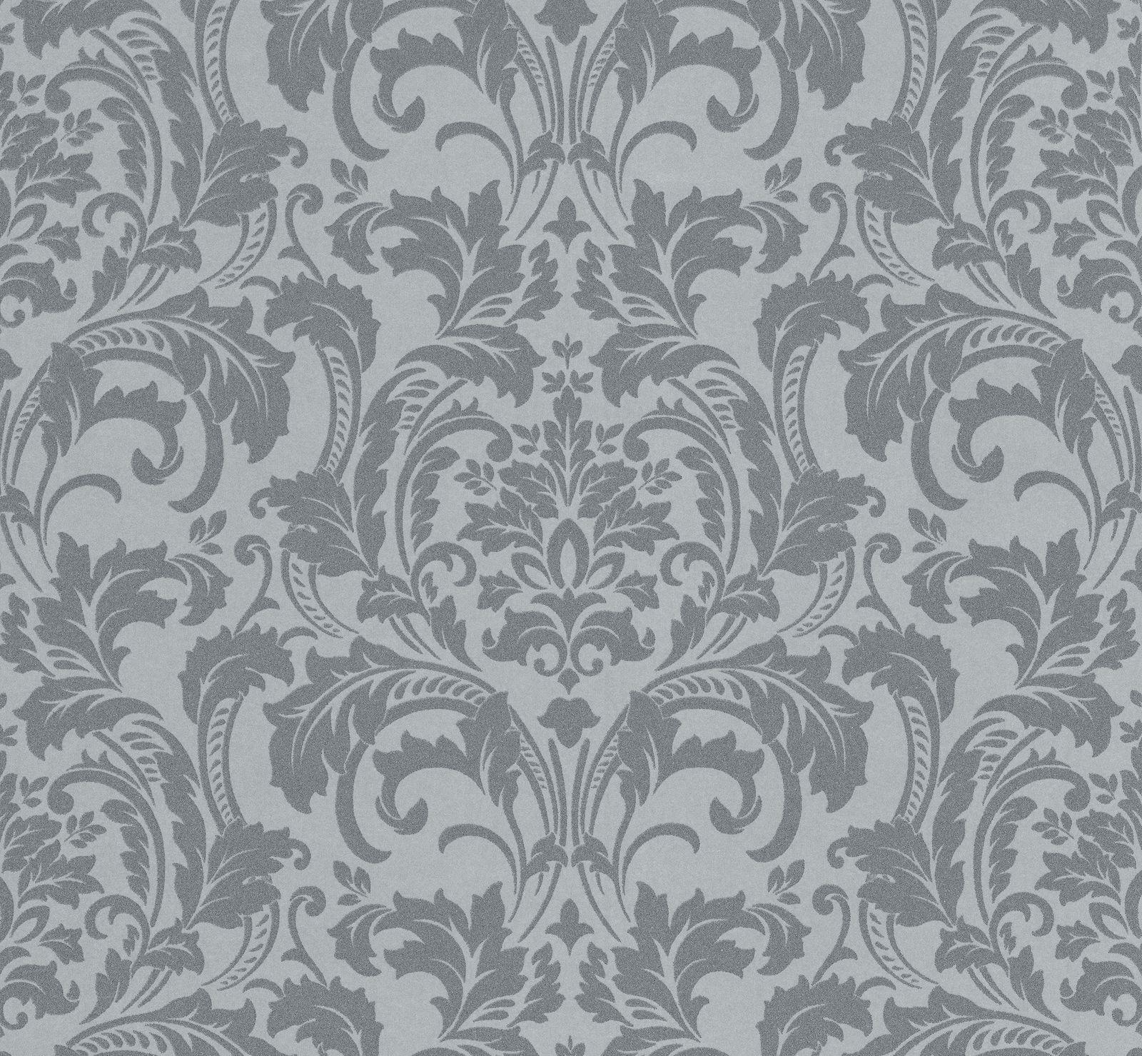 Tapete Kretschmer Deluxe Barock Glasperlen silber grau 41005-20