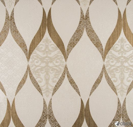 Wallpaper Kretschmer Deluxe orient glass beads white gold 41006-20 online kaufen