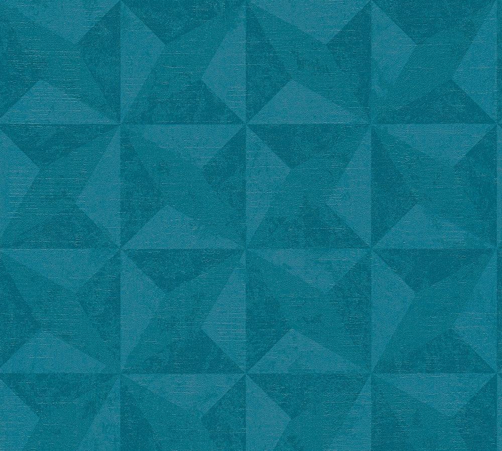 Vlies Tapete Kacheln 3d Turkis Blau Livingwalls 36001 1