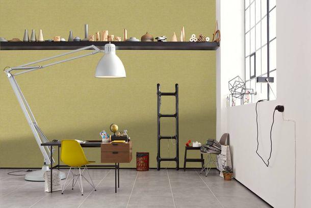 Vlies Tapete Design Muster gelb silber livingwalls 36003-2
