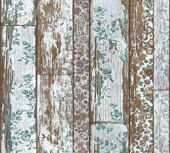 Neue Bude 2.0 Tapete Holz-Optik Vintage braun türkis 36119-3 online kaufen