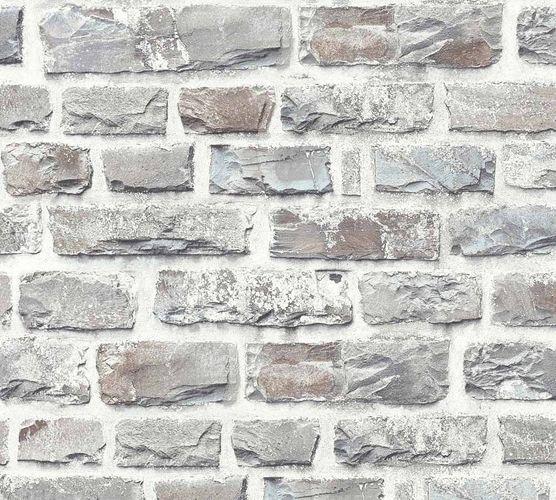 Neue Bude 2.0 Tapete Stein-Optik Backstein grau hellgrau 36140-3 online kaufen
