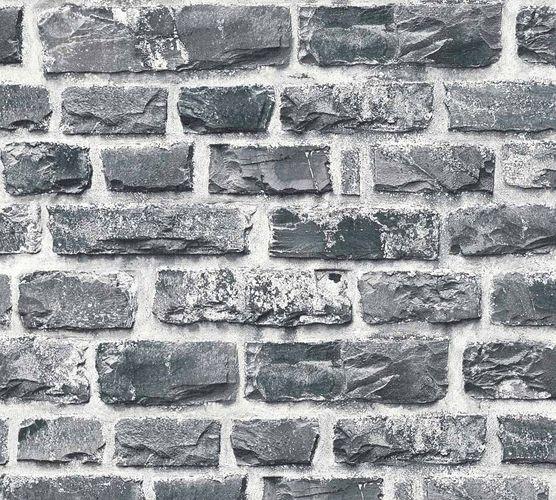 Wallpaper bricks stone design black Neue Bude 2.0 36140-4 buy online