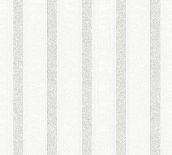 Neue Bude 2.0 Tapete Streifen weiß hellgrau 36167-1 online kaufen