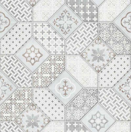 vlies tapete fliesen bohemian hellgrau wei erismann 6315 10. Black Bedroom Furniture Sets. Home Design Ideas