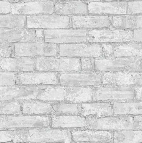 Wallpaper stone design 3D light grey Erismann 6318-10 online kaufen